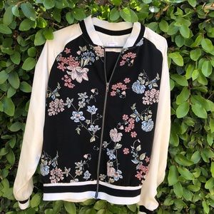 Floral Varsity/ Bomber styled Jacket